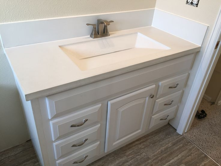 integral bathroom sink custom built white concrete countertop with integrated 13268