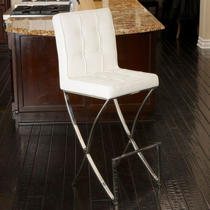 christopher knight home markson white leather barstool overstock shopping great deals on christopher