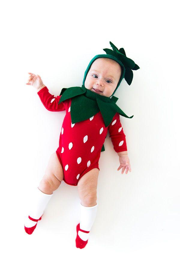 diy strawberry baby halloween costume - Baby Cute Halloween Costumes