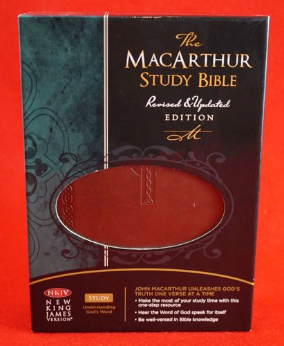 The MacArthur Study Bible NKJV Indexed Earth Brown Leathersoft
