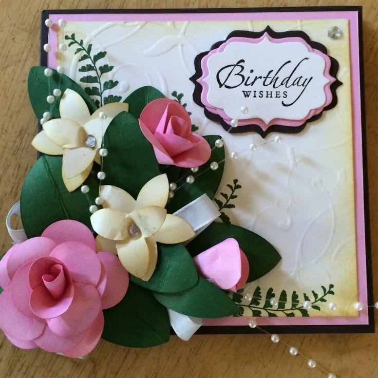 3-d roses birthday card
