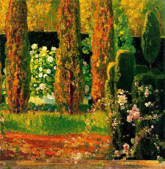 Anglada-Camarasa, Hermen (1871-1959) - 1930-40 Garden with Cypresses (Private Collection) by RasMarley, via Flickr