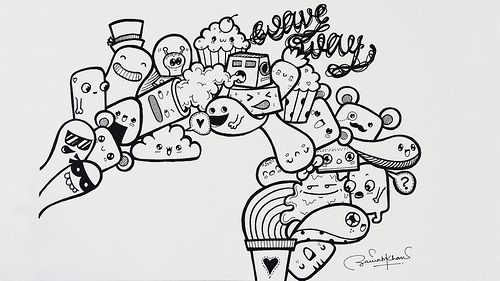 Wave Way Doodle by Pic Candle | www.youtube.com/piccandle | #doodle #drawing #art #cartoons