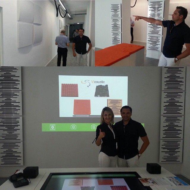 Vicoustic's CEO & CFO  visiting D-Loft Milan.  @dloft_milan chose to put…