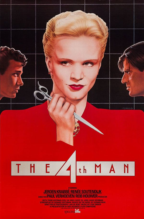 """Movie Poster of the Week: """"The 4th Man"""" and the Poster Art of Vincent Topazio on Notebook   MUBI"""