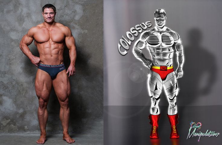 #Colossus before & after  Follow iHeartManipulations on Facebook, IG, and DeviantArt