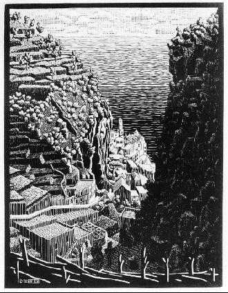 Atrani, Coast of Amalfi - M.C. Escher, 1932