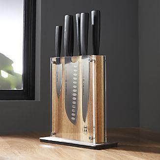 Schmidt Brothers ® 7-Piece Carbon 6 Knife Block Set