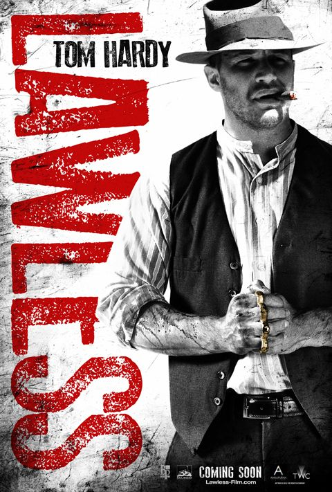 Movie poster for Lawless starring Tom Hardy, Gary Oldman, Guy Pearce, Shia LaBeof