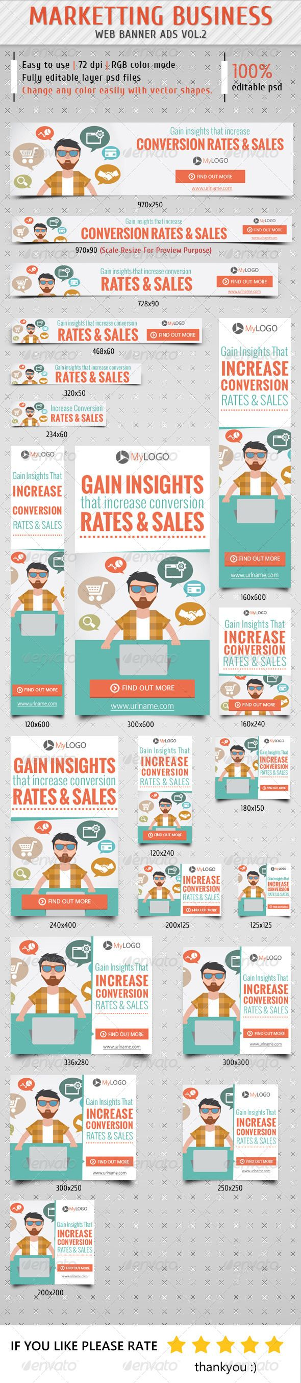 Marketting Business Banner Ads Template PSD | Buy and Download: http://graphicriver.net/item/marketting-business-banner-ads-vol2/8625169?WT.ac=category_thumb&WT.z_author=samiul75&ref=ksioks