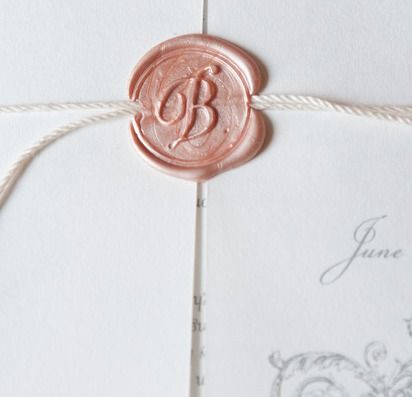 My fiance desperately wants to use wax seals on our invitation envelopes.. these would be nice! Love the 'B'!