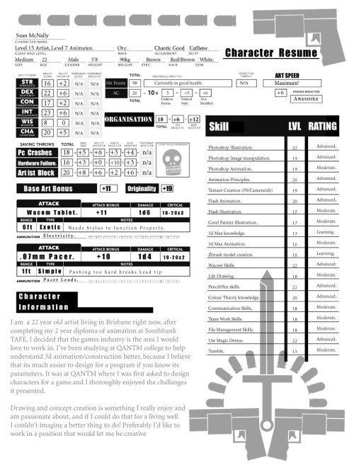 44 best Job Resumes \/ CV images on Pinterest How to make - visual artist resume 1