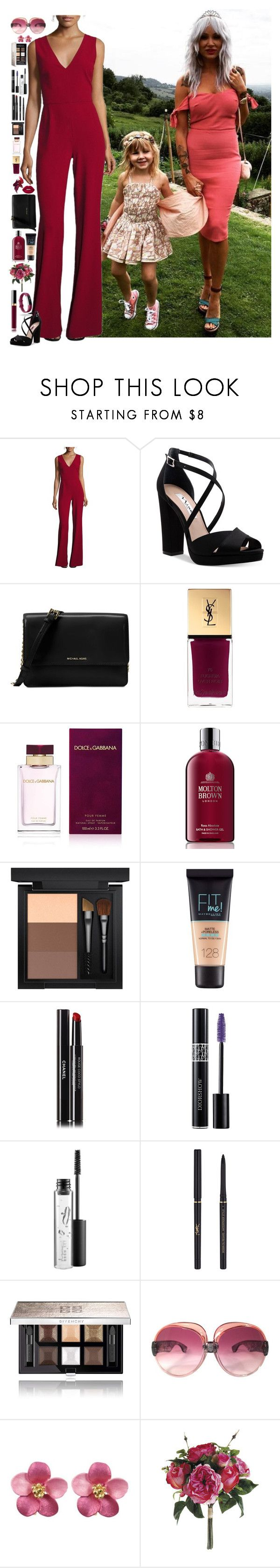 """Lou Teasdale #02"" by ambere3love34 ❤ liked on Polyvore featuring Alice + Olivia, Nina, Michael Kors, Yves Saint Laurent, Dolce&Gabbana, Molton Brown, Lime Crime, MAC Cosmetics, Maybelline and Chanel"