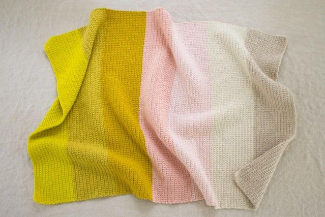 Crocheted Super Easy Baby Blanket   The Purl Bee