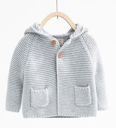 Knit cardigan with hood-KNITWEAR-MINI   0-12 months-KIDS   ZARA United States