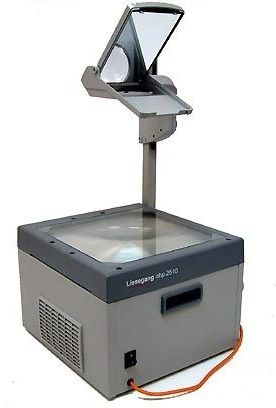 the overhead projector, usually the time when many students would take naps...