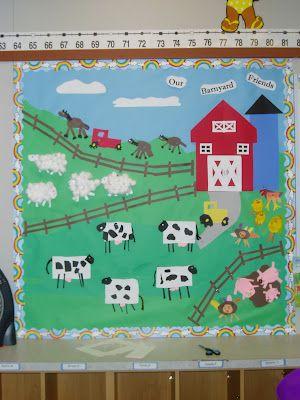 Little Miss Hood's Adventures in Kindergarten: Farm Bulletin Board Project
