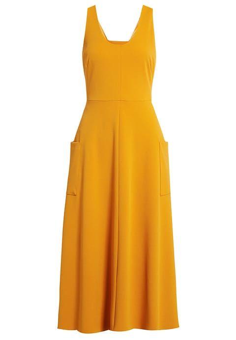 KIOMI Jersey maxi jurk geel yellow  maxi dress Zalando.nl
