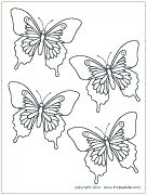Butterfly templates and printables that can be used to create decorations (such as butterfly garland)