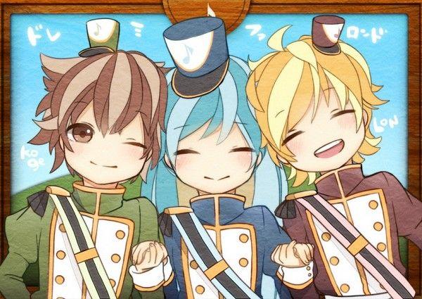 Miku, Lon and Kogeinu! AAAAAAAWWWW!!! This is adorable :D