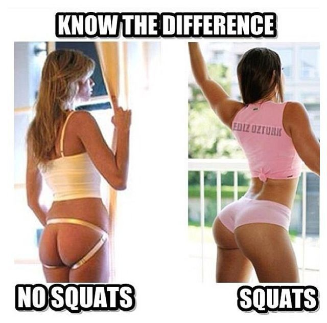 Girls that do squats