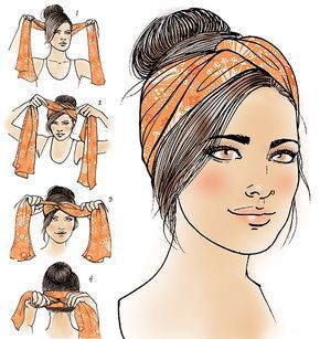 Turban how-to for Latina Magazine