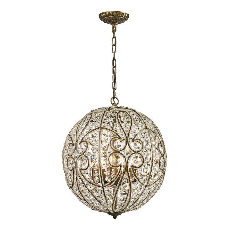 elizabethan collection 8 light pendant in dark bronze