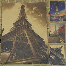 Vintage Papier Retro anime poster-Frankrijk Parijs toren landschap-Posters cudi poster/Vintage Thuis muursticker Decor 30*21 CM(China (Mainland))
