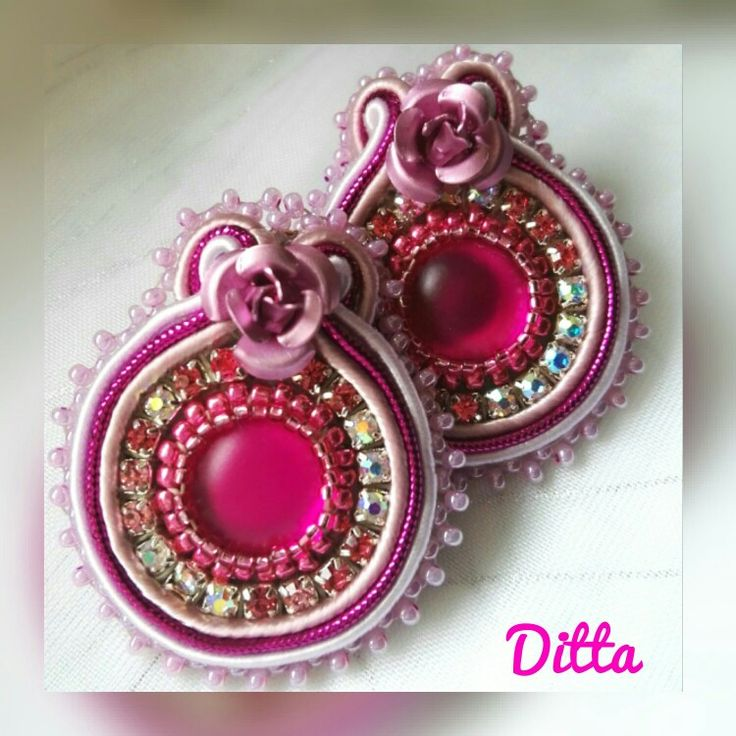 Sweet Italy -soutache earrings