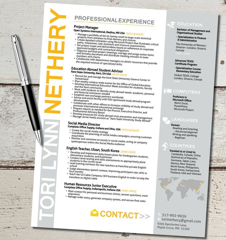 the tori lynn resume design template travel for by