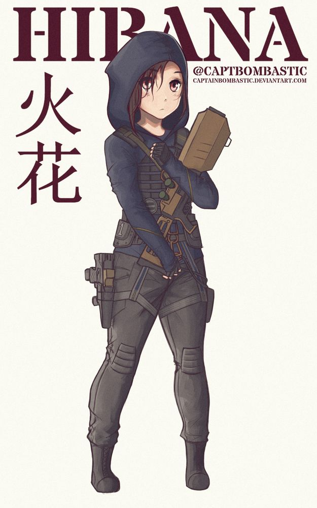 Hibana Anime Sticker By Captbombastic White 3 X3 In 2020