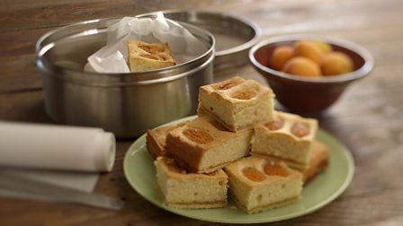 English apricot and almond bake - James Martin's Home Comforts