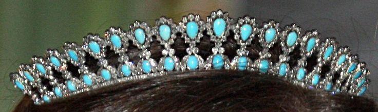 Turquoise and Diamond Tiara, Luxembourg (turquoises, diamonds).