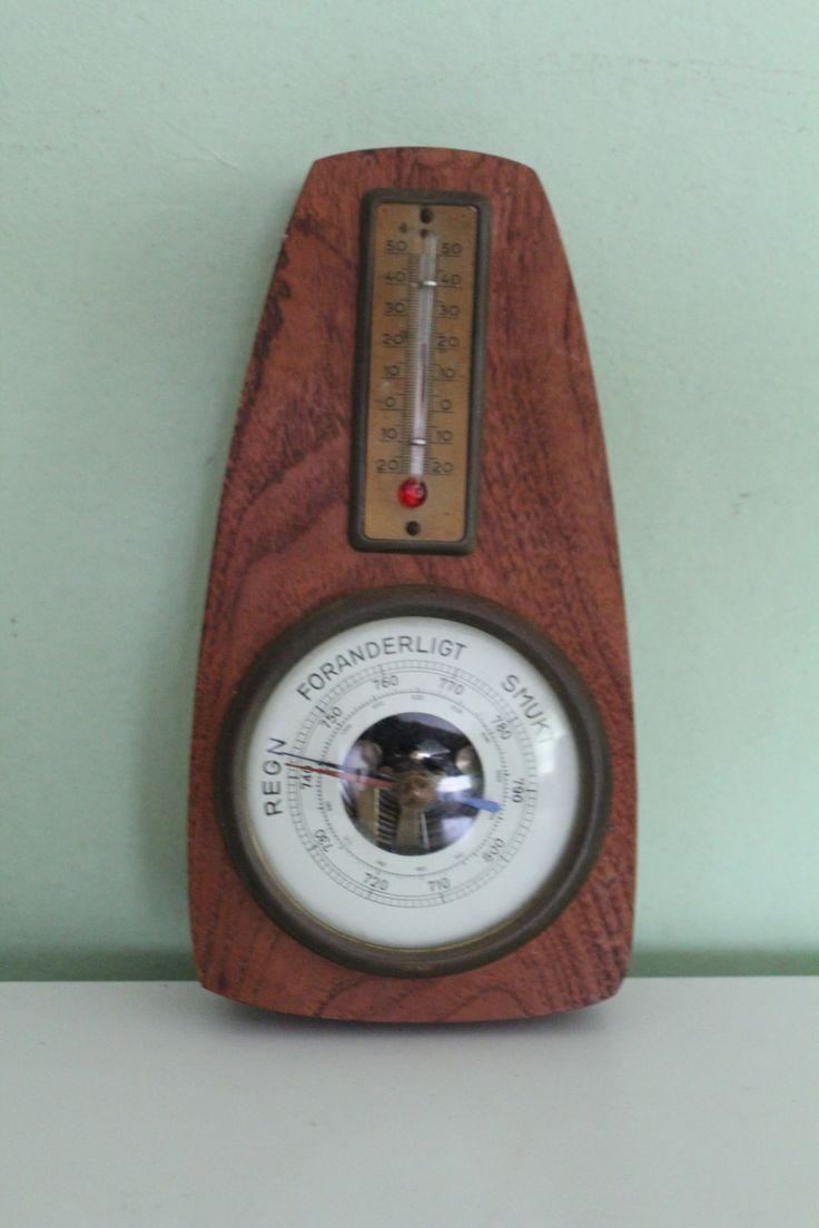 vintage primitive rustic wood barometer shabby chic rustic home