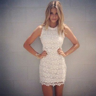 Pretty dress...loving the lace look