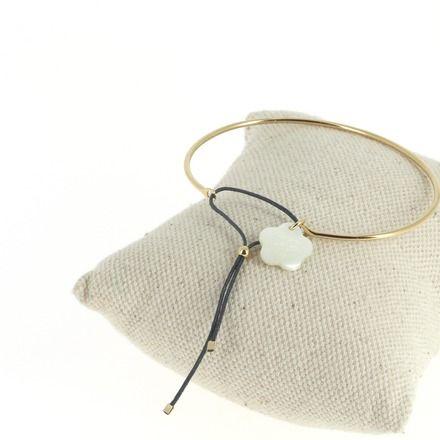 Bracelet Jonc Sucre d'Or en plaqué or ou argent massif à personnaliser