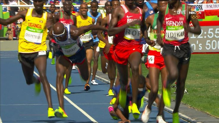 Mead goes down, Farrah stays on his feet in 5000m qualifying