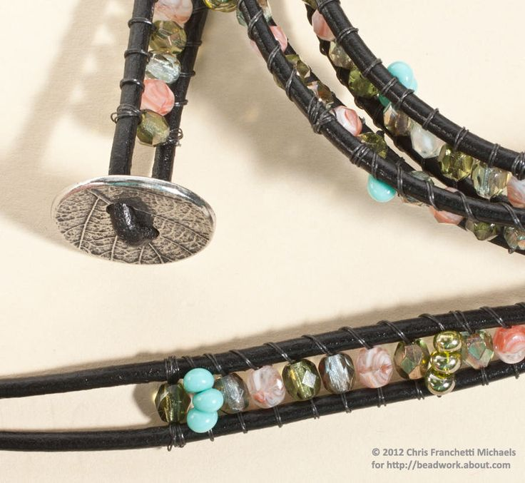 How to Make a Leather and Bead WrapBracelet