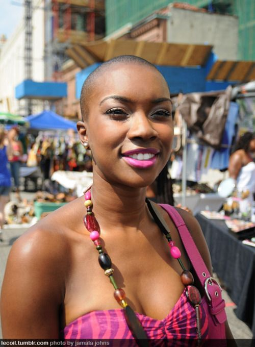 This woman is absolutely beautiful and bold. I admire her boldness to practically bare all by cutting off all her hair. I think this is my next step in my hair journey, what do you think??