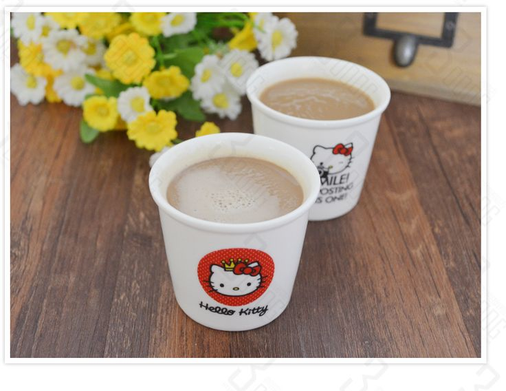 1pc cute color hello kitty cups Ceramic Eco Cup porcelain Mug Coffee Cup milk cup free shipping