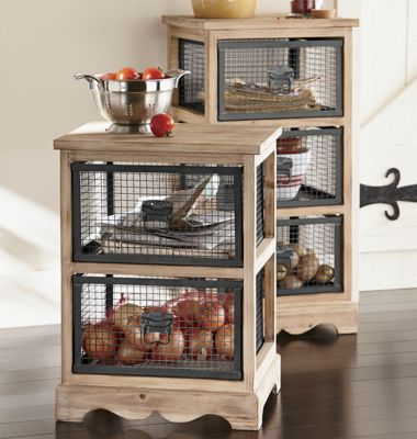 Metal Drawer Cabinet ~ $149.99 (3 drawer) $129.99 (2 drawer) at countrydoor.com
