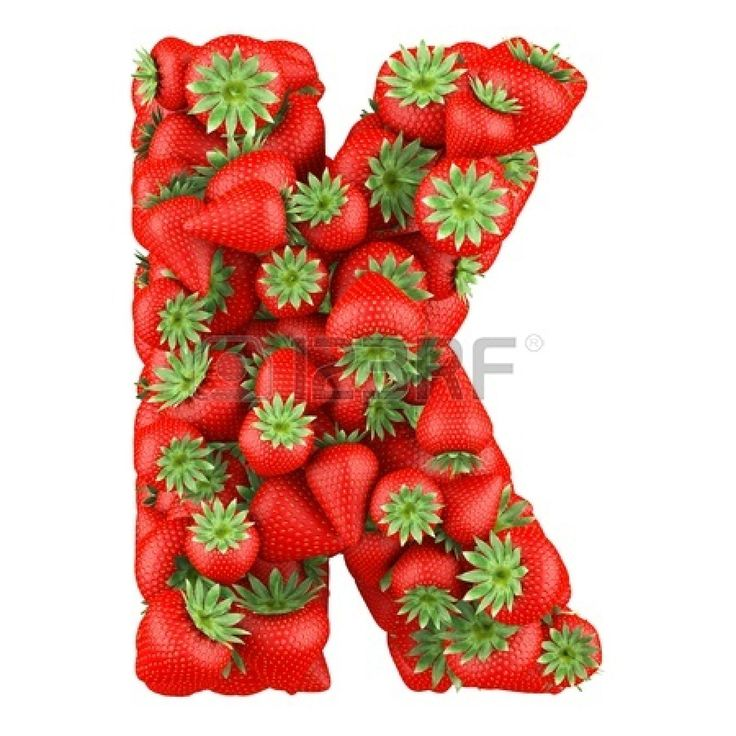 strawberry K 3d Red Letter K Isolated White Background Royalty Free Cliparts .