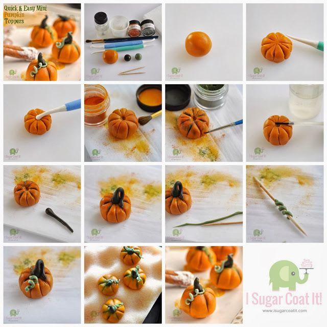 Quick & Easy Mini Pumpkin Topper Tutorial {Halloween} | I Sugar Coat It!