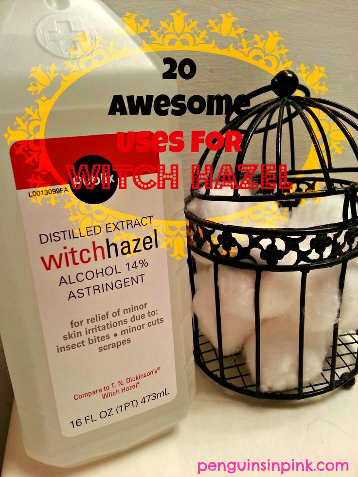 20 Awesome Uses For Witch Hazel - from bug bites and astringent to cold sores and swimmer's ear; here's a complete list with personal accounts.