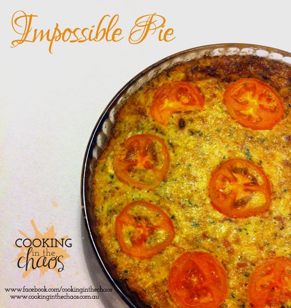 Cheesy Bacon Pie - quick and easy; serve with green salad