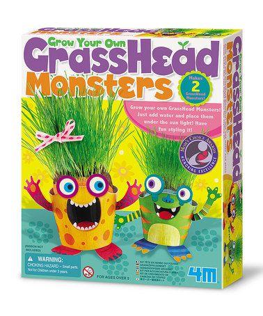 Another great find on #zulily! Grass Head Monster Kit #zulilyfinds