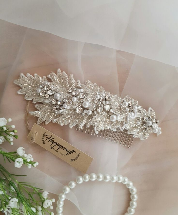 Bridal haircomb,hairpiece,headpiece