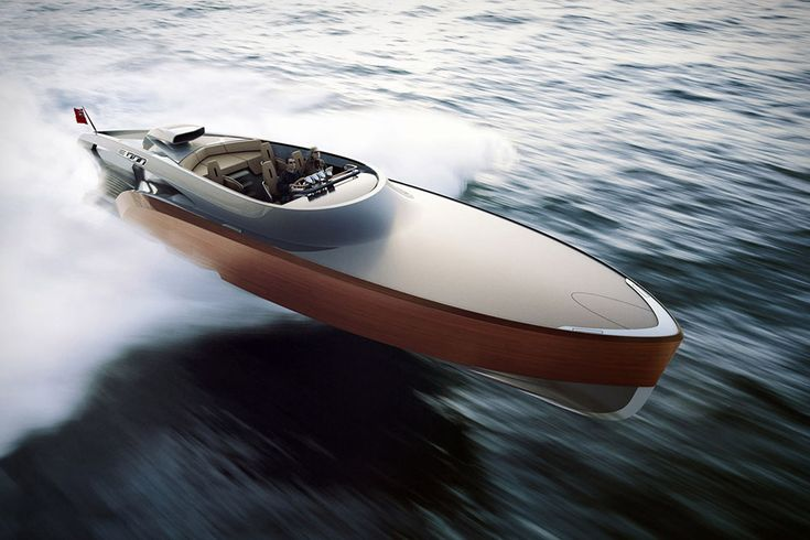 Claydon Reeves Aeroboat - The 48-foot boat is powered by a supercharged V12 Rolls Royce Merlin engine that can be configured to deliver between 1500 and 2500hp, good for speeds of up to and over 75 knots. There's room for up to 7 passengers aboard — including in the luxurious cabin — a mix of analog gauges and touch-screen controls, and shock-mounted forward seats inspired by the Spitfire's landing gear, but if you want one, you'd best hurry: only 10 are being made.
