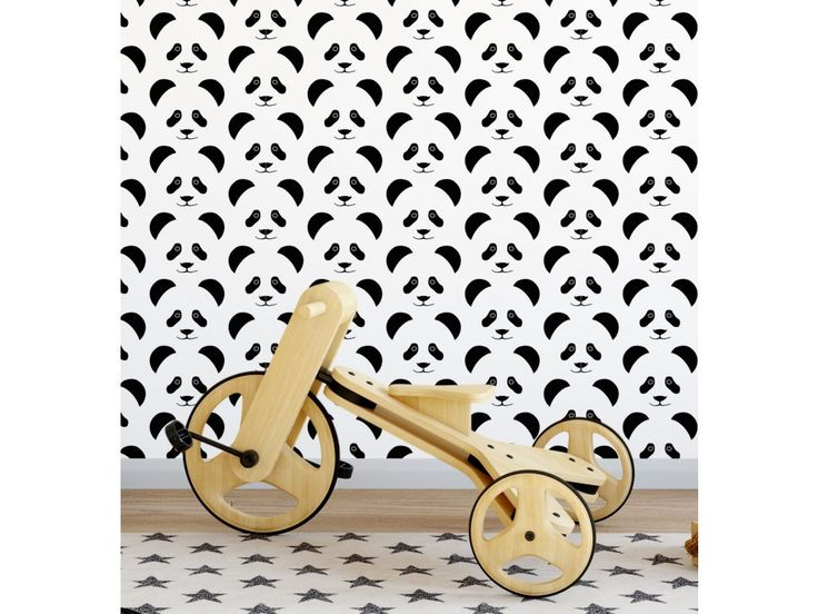 Tapeta Panda. Kvalitní,odolná vliesová tapeta, ekologický tisk. Tapeta vhodná do dětského pokoje. Rozměr na přání. Cena za 1m2 750,- Kč