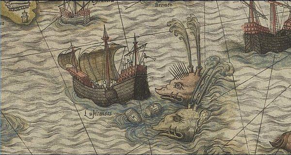 Quem já viu um mapa antigo reparou, certamente, nas criaturas bizarras que marcam vários pontos dos oceanos do mundo todo. Serpentes marinhas emblemáticas, sereias sedutoras e outras criaturas míticas podem ser encontradas em mapas medievais e renascentistas dos séculos X ao XVII. Por quê?
